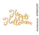 happy halloween. isolated... | Shutterstock .eps vector #699803299