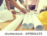 business objects of team... | Shutterstock . vector #699806155