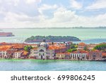 panoramic view of venice from... | Shutterstock . vector #699806245