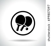 illustration of table tennis... | Shutterstock .eps vector #699807097