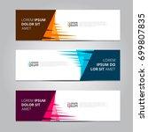 vector abstract design banner... | Shutterstock .eps vector #699807835