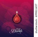 creative diwali festival... | Shutterstock .eps vector #699811657