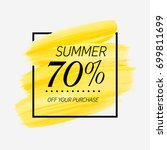 summer sale 70  off sign over... | Shutterstock .eps vector #699811699