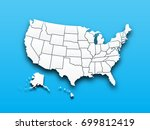 map of united state of america . | Shutterstock .eps vector #699812419
