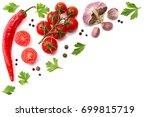 cherry tomato  red hot chili...   Shutterstock . vector #699815719
