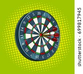 darts game pop art hand drawn... | Shutterstock . vector #699817945