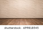 empty room with brick wall and... | Shutterstock . vector #699818545