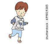 vector illustration of little... | Shutterstock .eps vector #699819385