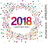 happy new year 2016 paper... | Shutterstock .eps vector #699820591