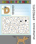 preschool education. puzzle for ... | Shutterstock .eps vector #699822451