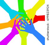 diversity concept design ... | Shutterstock .eps vector #699823924