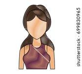 portrait young woman avatar...   Shutterstock .eps vector #699830965