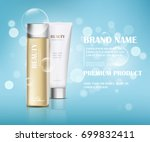 a beautiful cosmetic templates... | Shutterstock .eps vector #699832411