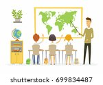 geography lesson at school  ... | Shutterstock .eps vector #699834487