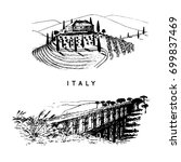 Italian Landscapes Set With...