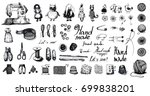 a large vector set of... | Shutterstock .eps vector #699838201
