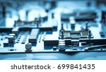 close up on chip on computer... | Shutterstock . vector #699841435