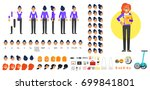 vector flat style businesswoman ... | Shutterstock .eps vector #699841801