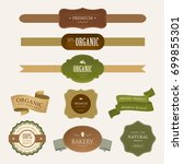 set of natural label and... | Shutterstock .eps vector #699855301