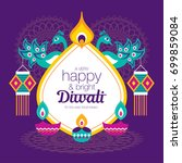 diwali hindu festival greeting...   Shutterstock .eps vector #699859084