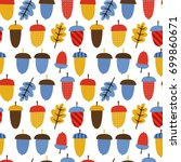 seamless vector pattern  cute... | Shutterstock .eps vector #699860671