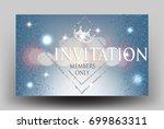 elegant sparkling invitation... | Shutterstock .eps vector #699863311