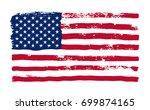 grunge american flag.... | Shutterstock .eps vector #699874165