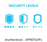 security levels icons with... | Shutterstock .eps vector #699876391