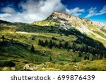 scenic view on the hoher ifen... | Shutterstock . vector #699876439
