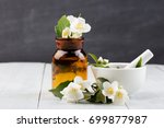 spa concept   making essential... | Shutterstock . vector #699877987