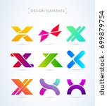 logo elements collection.... | Shutterstock .eps vector #699879754