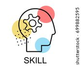 skill icons for business on...   Shutterstock .eps vector #699882595