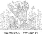 Coloring Page Of Forest...