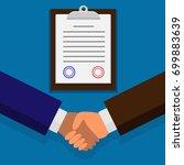 business partners dealing a...   Shutterstock .eps vector #699883639