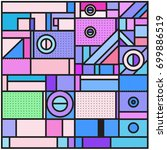 trendy geometric elements... | Shutterstock .eps vector #699886519