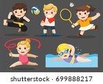 team sports for kids including... | Shutterstock .eps vector #699888217