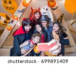 big family making selfie on... | Shutterstock . vector #699891409