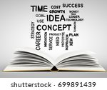 open book with business words.... | Shutterstock . vector #699891439