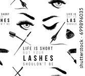 professional makeup artist... | Shutterstock .eps vector #699896035