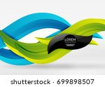 vector colorful wave lines in... | Shutterstock .eps vector #699898507