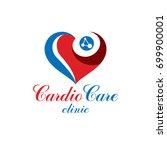vector heart shape logo created ... | Shutterstock .eps vector #699900001