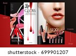 glamorous fashion brochure  lip ... | Shutterstock .eps vector #699901207