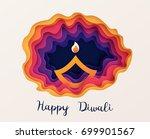 happy diwali festive background ... | Shutterstock .eps vector #699901567