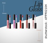 lip gloss product collection ... | Shutterstock .eps vector #699902104