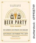 oktoberfest beer festival...   Shutterstock .eps vector #699908749