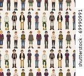 seamless young man pattern | Shutterstock .eps vector #69990991