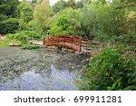 wooden arch footbridge over... | Shutterstock . vector #699911281
