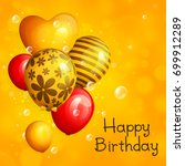 bunch of birthday yellow and... | Shutterstock .eps vector #699912289