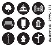 outdoor  park elements icons set | Shutterstock .eps vector #699914875