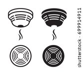 smoke detector silhouette   Shutterstock .eps vector #699914911